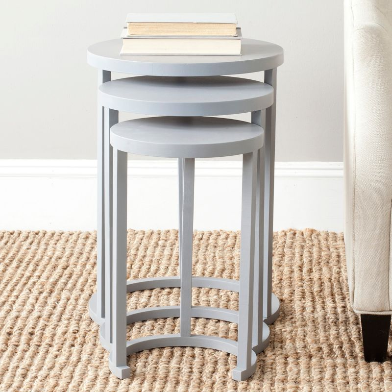 Safavieh 3-piece Sawyer Nesting End Table Set, Med Grey
