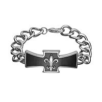 Titanium Cross Link Bracelet - Men