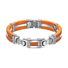 Stainless Steel & Rubber Bracelet - Men