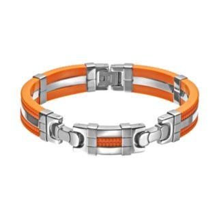 Stainless Steel and Rubber Bracelet - Men