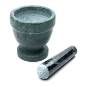 Fox Run Green Marble Mortar and Pestle