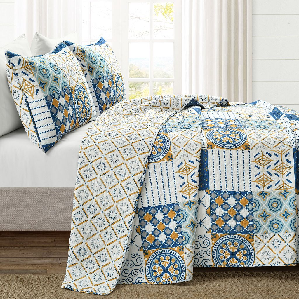 Lush Decor Monique 3-pc. Reversible Quilt Set