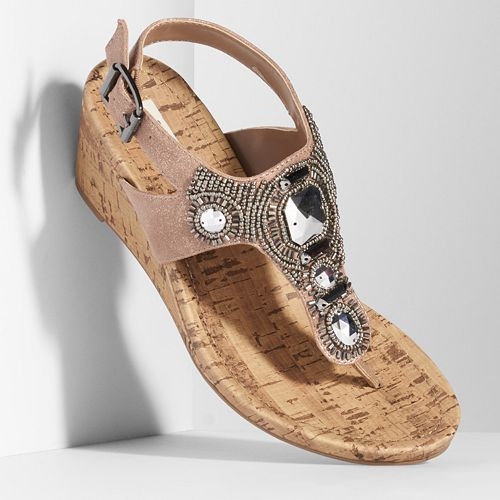 2c0123211dd Simply Vera Vera Wang Women s Thong Wedge Sandals
