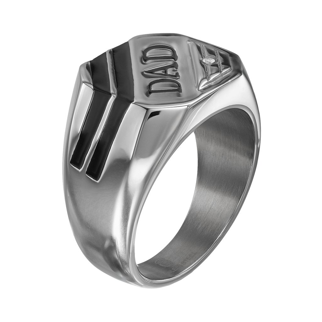 Diamond Accent Stainless Steel