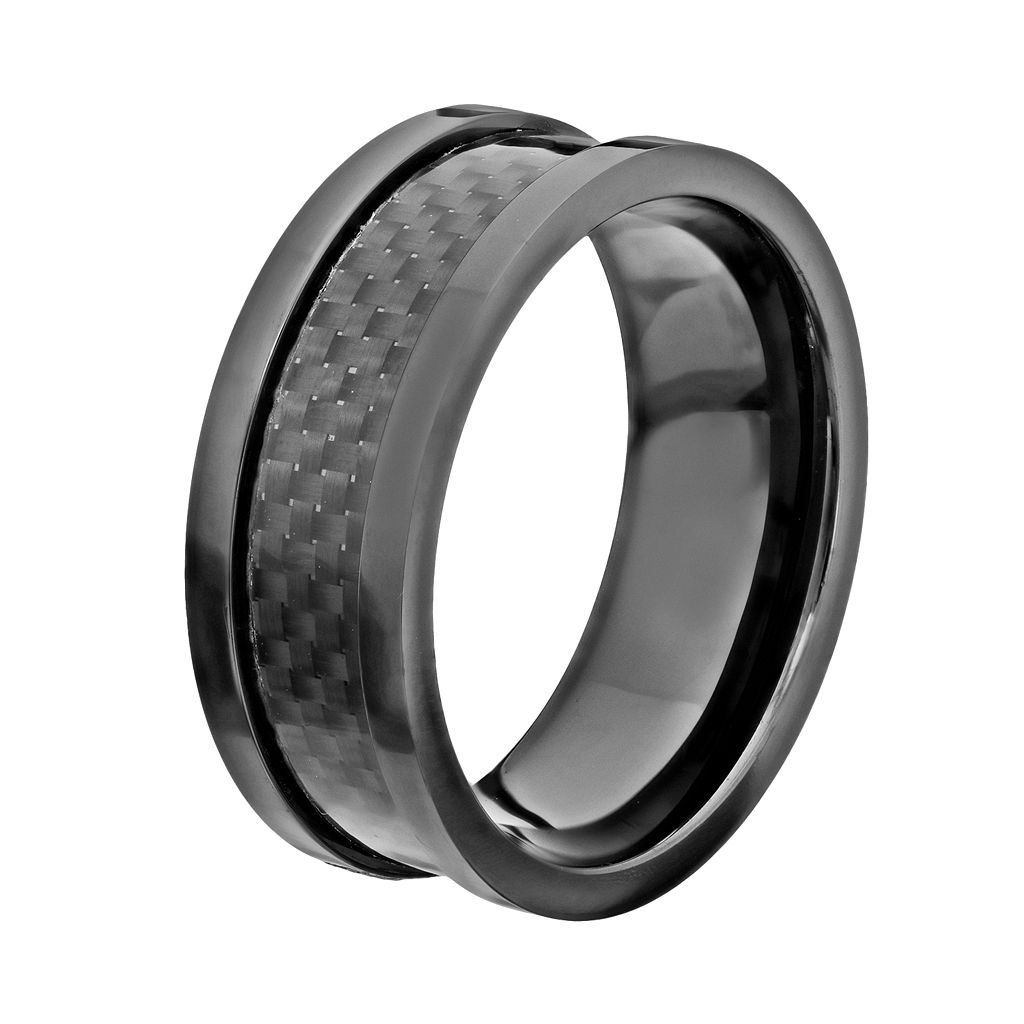 Black Ceramic and Carbon Fiber Band - Men