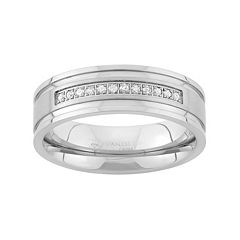 1/6 Carat T.W. Stainless Steel Wedding Band - Men