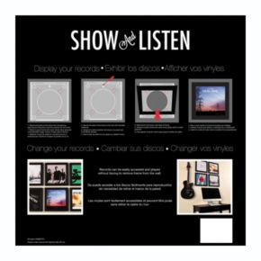 Show and Listen 12.5'' x 12.5'' Record Frame