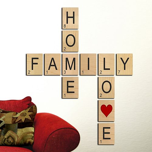 Game Tile ''Home Family Love'' Wall Art