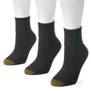 GOLDTOE® 3-pk. Ultrasoft Turn-Cuff Crew Socks - Women