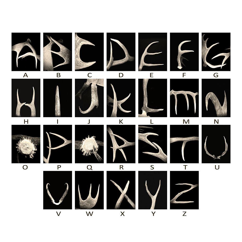 ''Antler'' Alphabet Wall Art