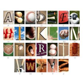 ''Baseball'' Alphabet Wall Art