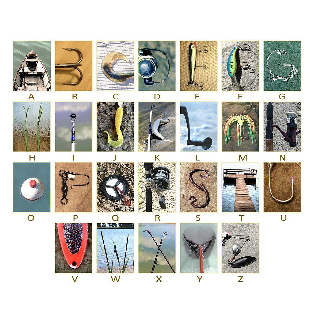 ''Fishing'' Alphabet Wall Art