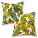 Greendale Home Fashions 2-piece Outdoor Throw Pillow Set