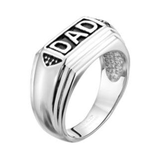 Stainless Steel '' Dad'' Ring - Men