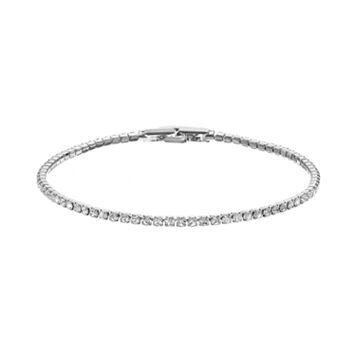 Duchess of Dazzle Crystal Silver Tone Bracelet