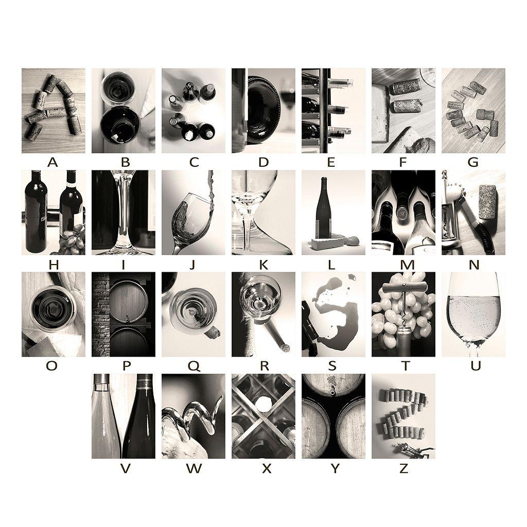''Wine'' Alphabet Wall Art