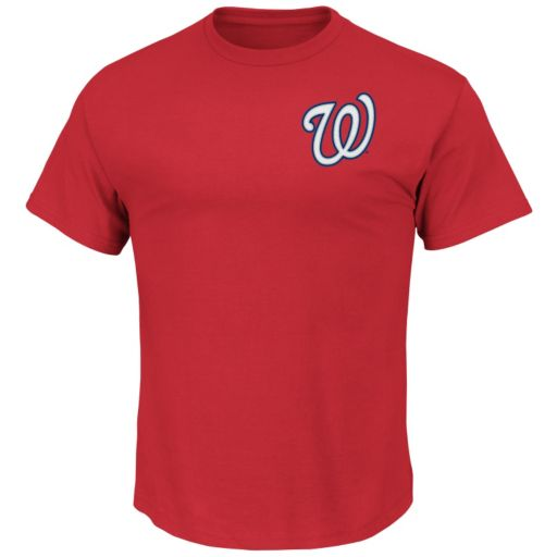 Big & Tall Majestic Washington Nationals Official Wordmark Synthetic Tee