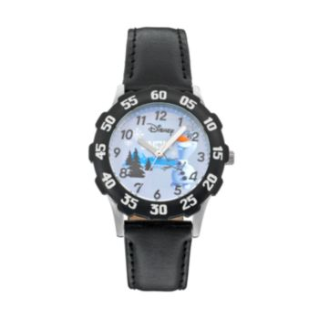 "Disney's Frozen Olaf ""Snow"" Kids' Leather Watch"