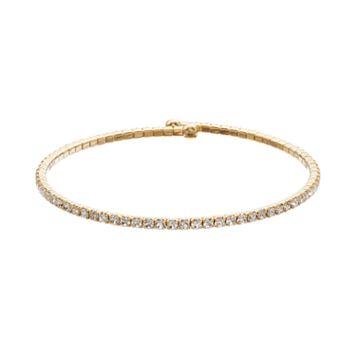 Duchess of Dazzle Crystal 14k Gold-Plated Bangle Bracelet