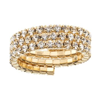 Duchess of Dazzle Crystal 14k Gold-Plated Coil Ring