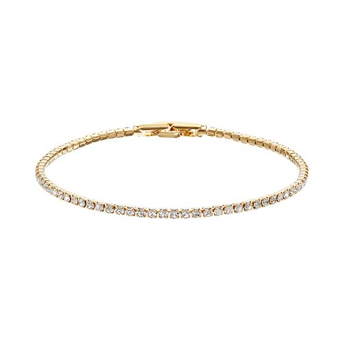 Duchess of Dazzle Crystal 14k Gold-Plated Bracelet