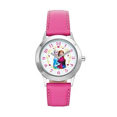Disney's Frozen Anna & Elsa Kids' Leather Watch