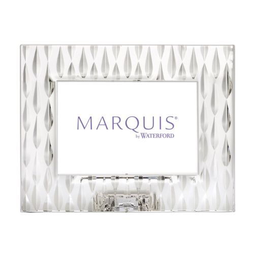 "Marquis by Waterford Rainfall 4"" x 6"" Crystal Frame"