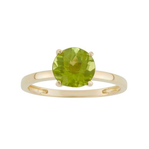 Peridot 10k Gold Ring