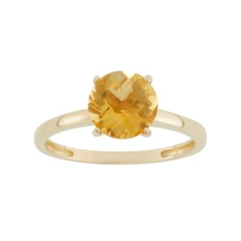 Citrine 10k Gold Ring