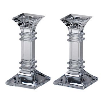 Marquis by Waterford Treviso Crystal Candlestick Set