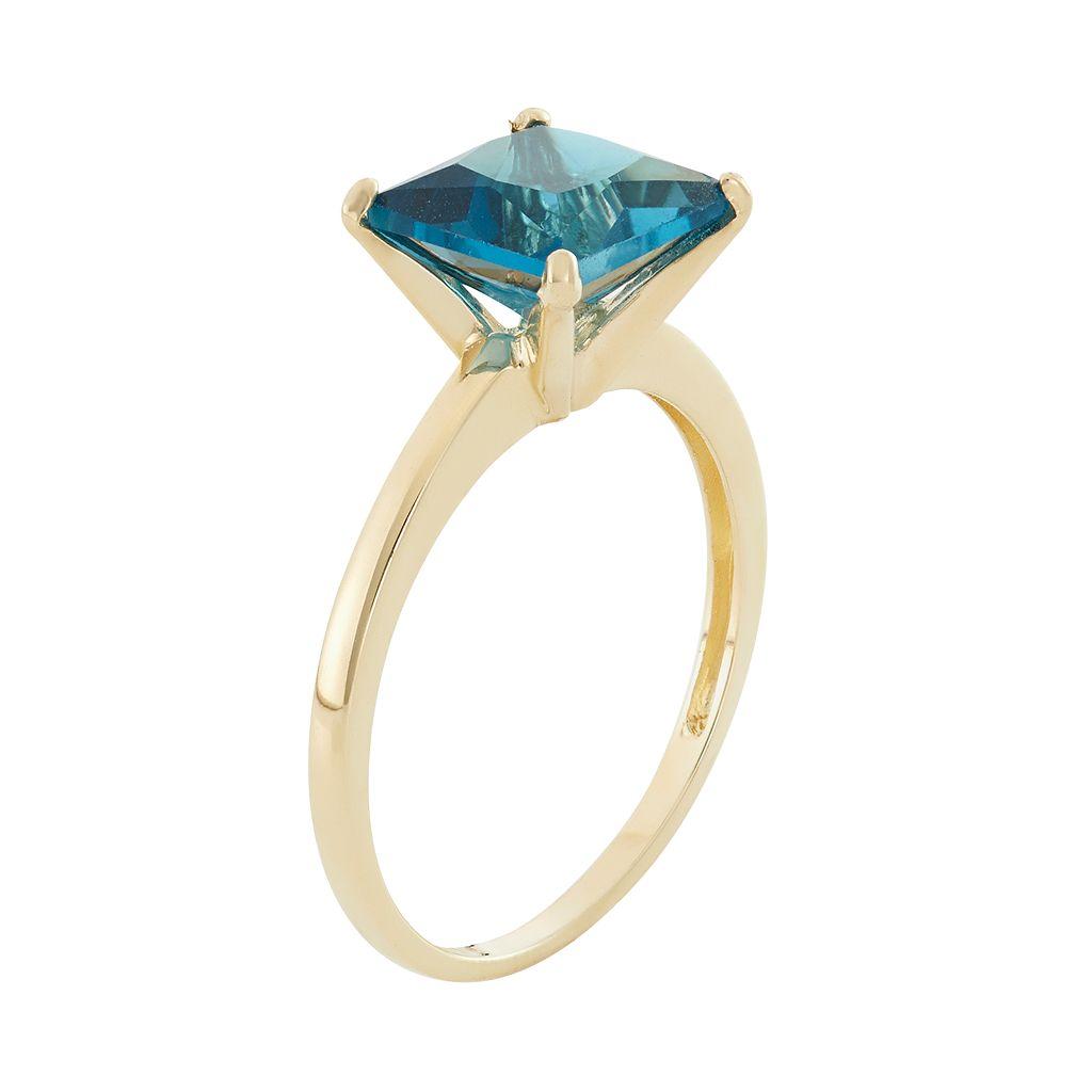 London Blue Topaz 10k Gold Ring