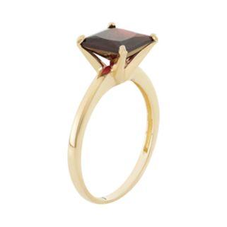 Garnet 10k Gold Ring