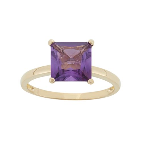 Amethyst 10k Gold Ring