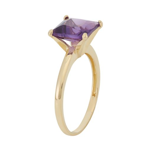 Amethyst 10k Gold Ring