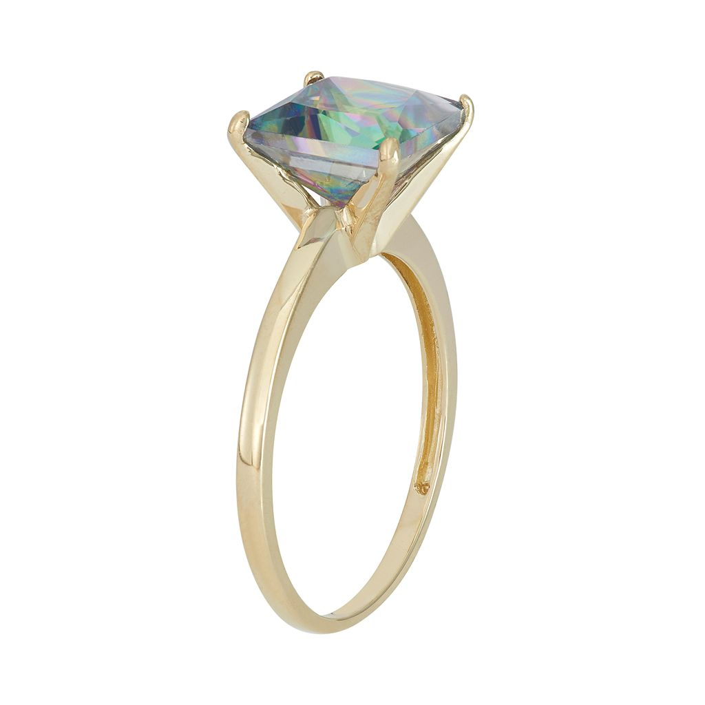 Mystic Topaz 10k Gold Ring