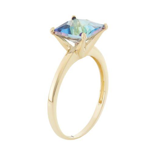 Mystic Topaz 10k Gold Ring
