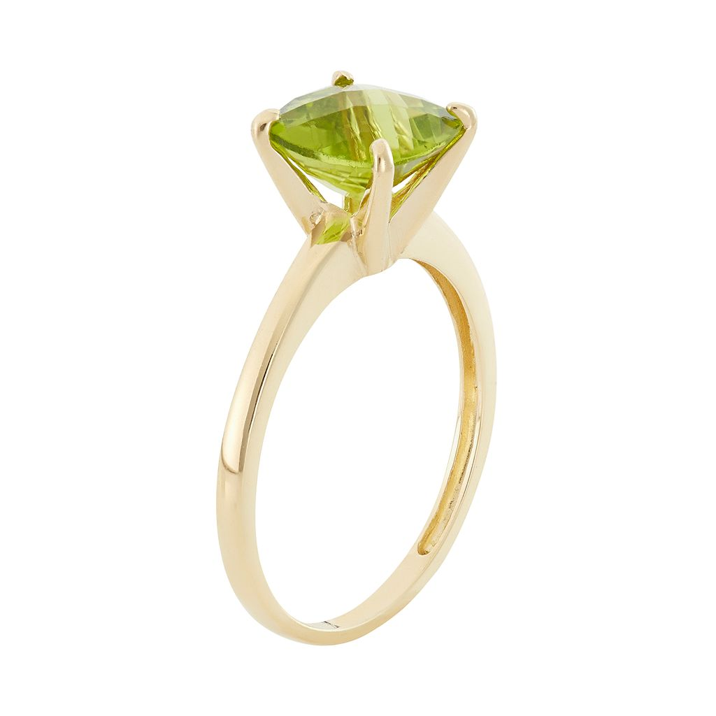 Peridot 10k Gold Ring