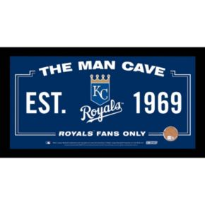 Steiner Sports Kansas City Royals Man Cave Sign with Authentic Field Dirt