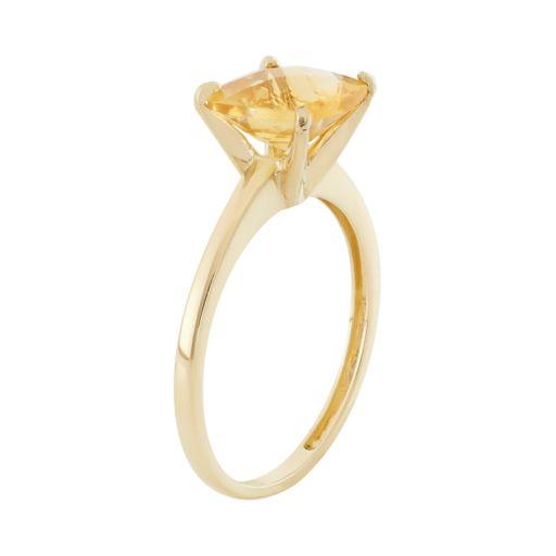 Citrine 10k Gold Ring