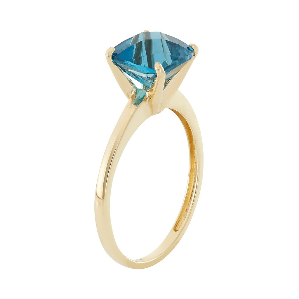 London Blue Topaz 10k Gold Ring