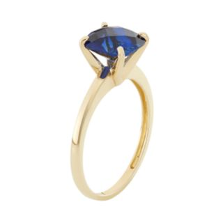Lab-Created Sapphire 10k Gold Ring