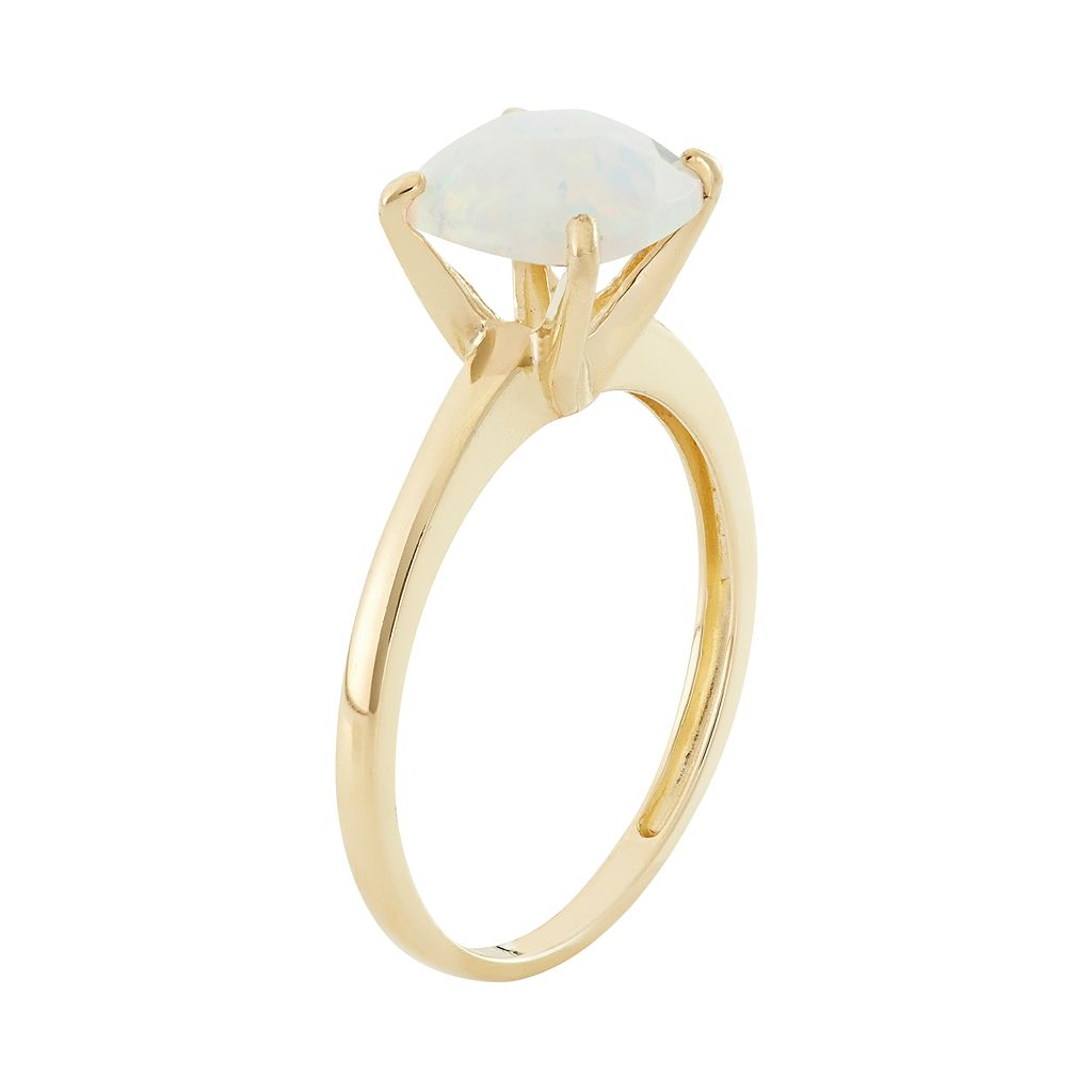 Lab-Created Opal 10k Gold Ring