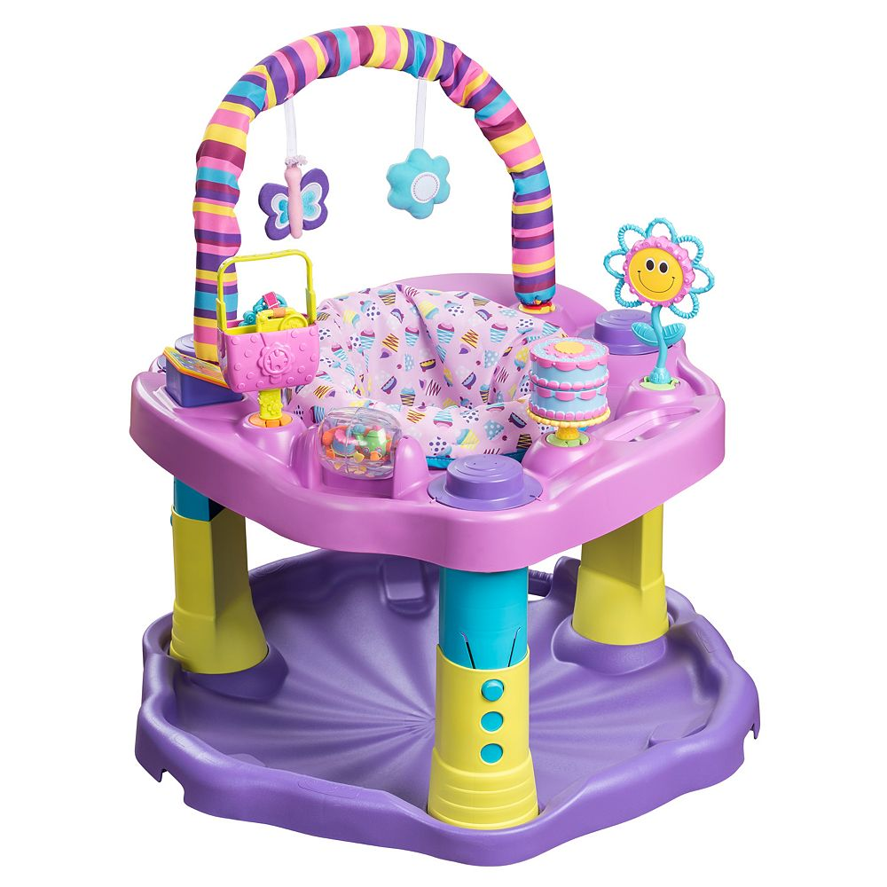 615444ed0faf Evenflo ExerSaucer Bounce   Learn Sweet Tea Party