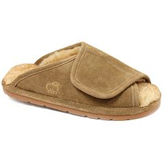 LAMO Men's Suede Merino Wool Wrap Slippers