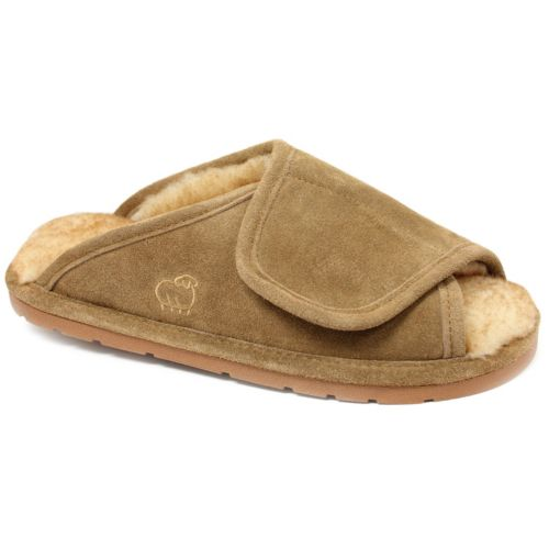 LAMO Men's Suede Merino Wool ... Wrap Slippers