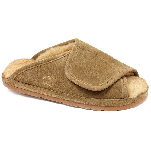 LAMO Men's Suede Merino Wool ... Wrap Slippers 1wIbdKy8