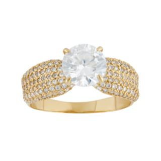 Cubic Zirconia Engagement Ring in 10k Gold