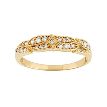 Cubic Zirconia Wedding Ring in 10k Gold