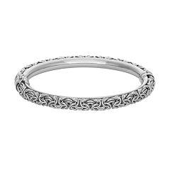 Sterling Silver Byzantine Bangle Bracelet