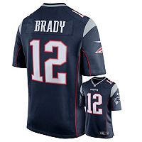 Men's Nike New England Patriots Tom Brady Game NFL Replica Jersey